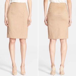 MaxMara Made in Italy designer camel skirt
